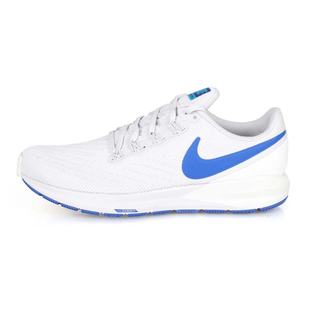 NIKE AIR ZOOM STRUCTURE 22 男慢跑鞋-路跑 灰藍@AA1636007@