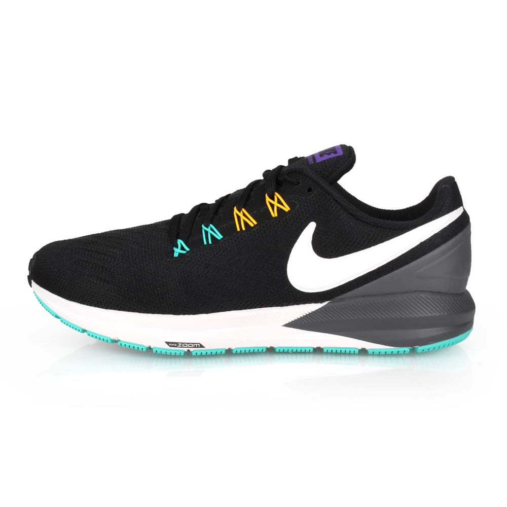 NIKE AIR ZOOM STRUCTURE 22 男慢跑鞋-路跑 黑白灰@AA1636008@