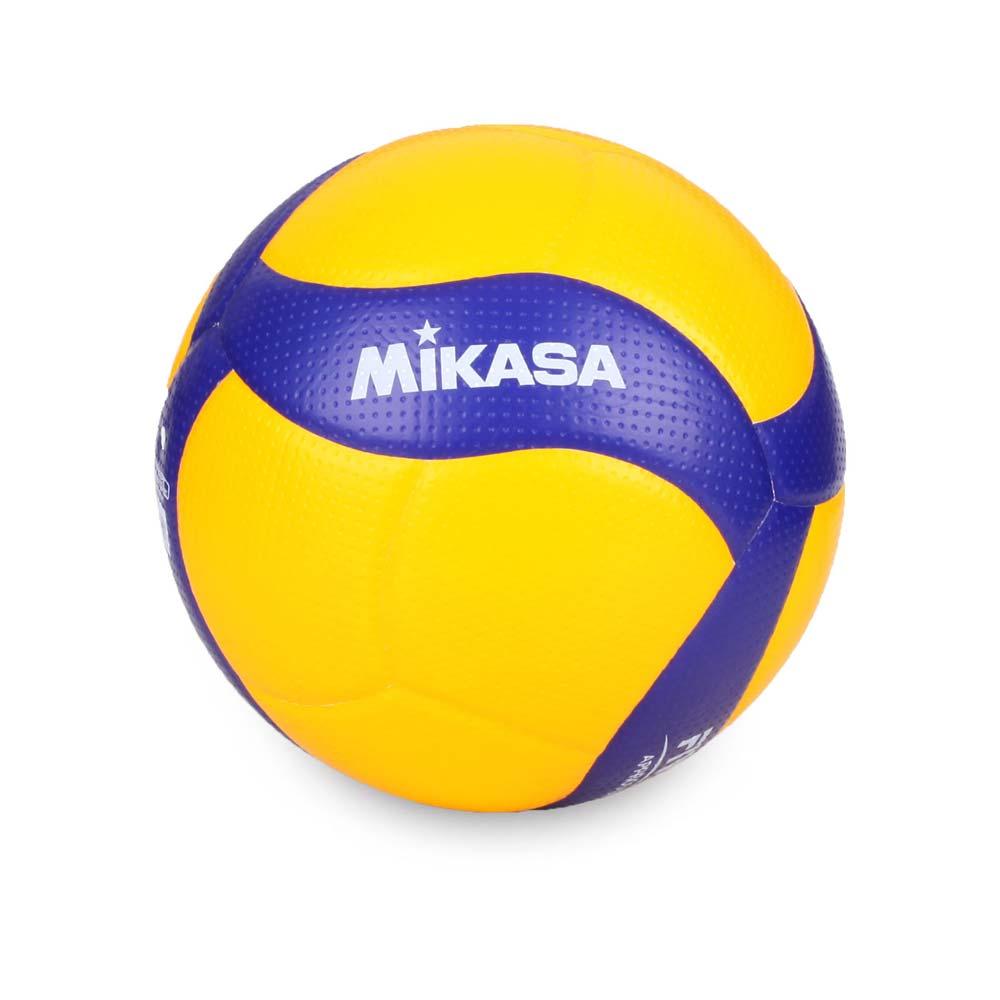 MIKASA 超纖皮製練習型排球 #5-5號球 FIVB指定球 黃藍@V300W@