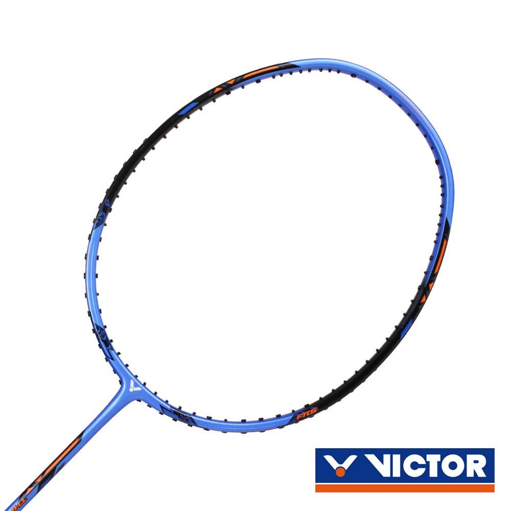VICTOR 突擊羽球拍-3U-羽毛球拍 勝利 羽球 藍橘黑@TK-220H-3U-F@