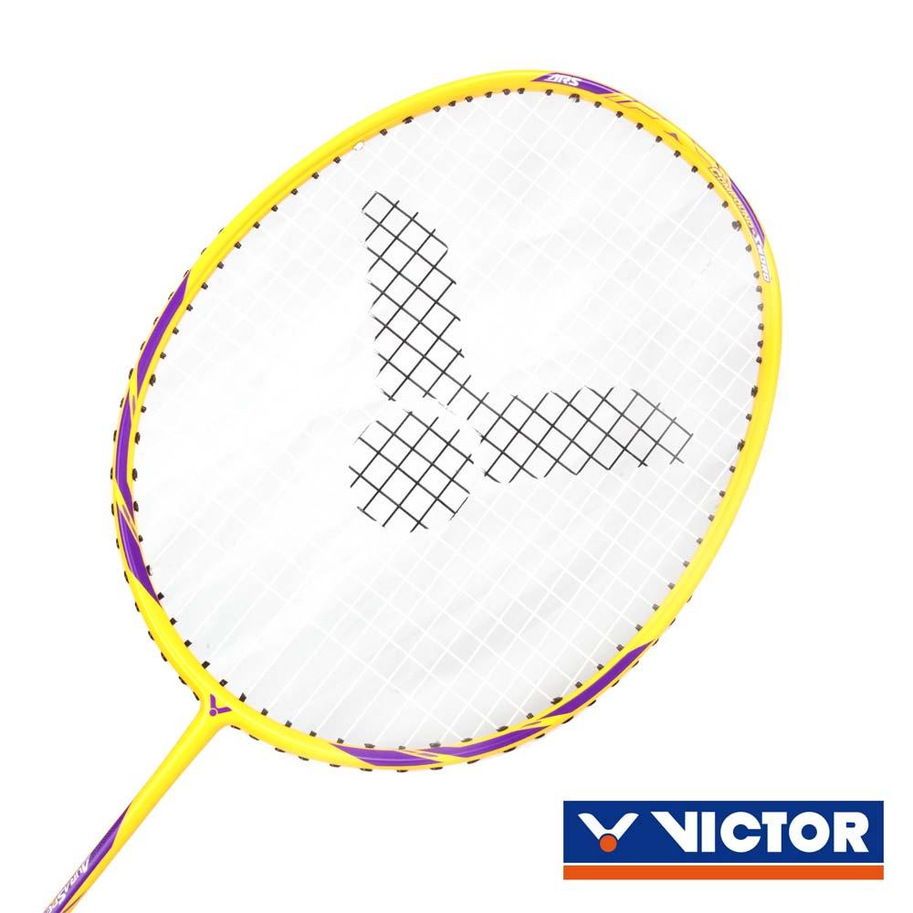 VICTOR G5穿線拍-4U-羽毛球拍 勝利 羽球 神速系列 黃紫@ARS-10-4U@
