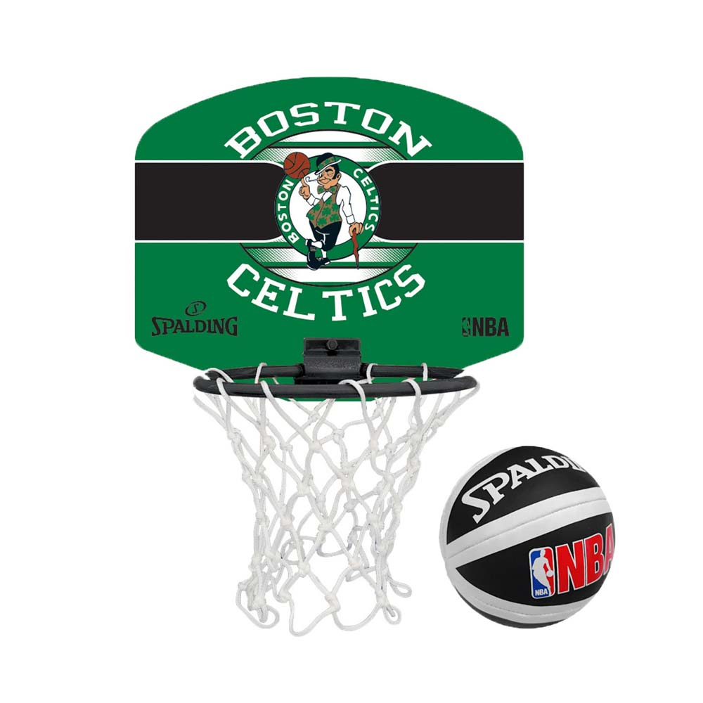 SPALDING 18小籃板-賽爾提克-親子 籃框 籃板 NBA 斯伯丁 綠黑白@SPA77651@