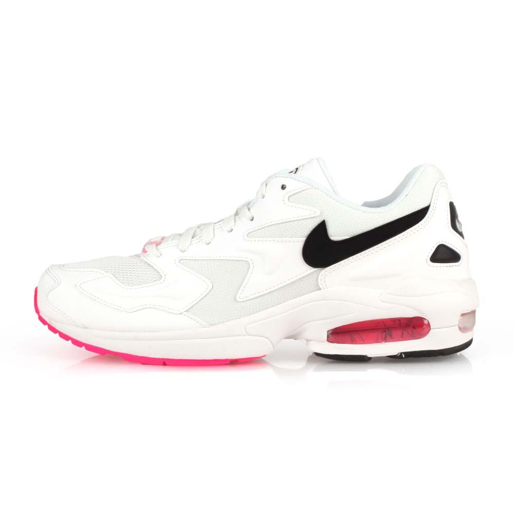 NIKE AIR MAX2 LIGHT 男休閒運動鞋- 氣墊 慢跑 路跑 白黑粉@AO1741107@