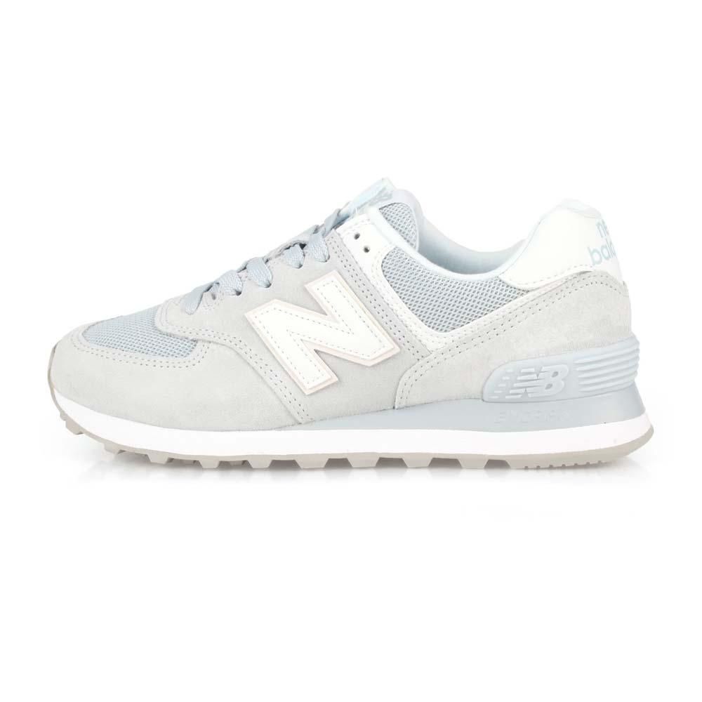 NEWBALANCE 女復古慢跑鞋-574系列 麂皮 NB N字鞋 淺灰白@WL574OAA@