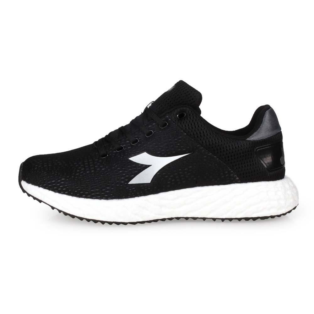 DIADORA 男專業避震慢跑鞋-走路鞋 路跑 黑灰白@DA71117@