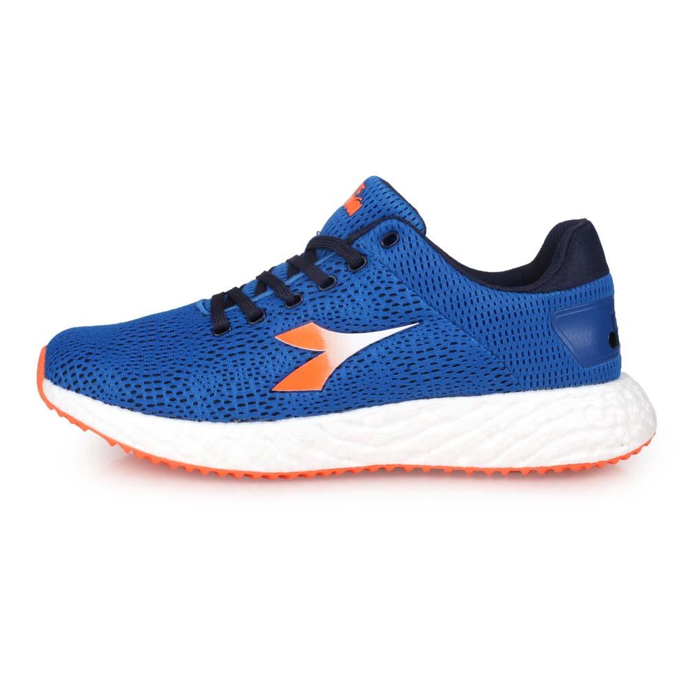 DIADORA 男專業避震慢跑鞋-走路鞋 路跑 藍橘白丈青@DA71118@