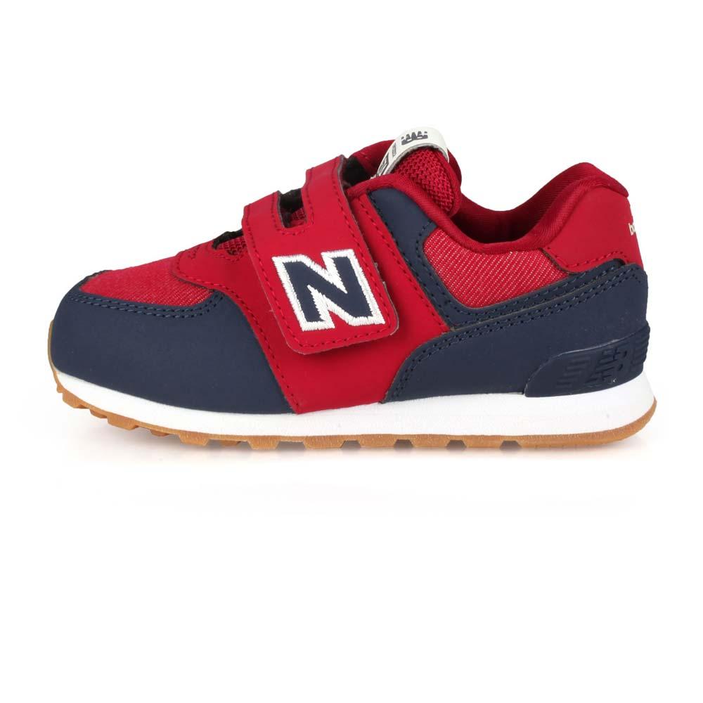 NEWBALANCE 男女小童復古慢跑鞋-WIDE-NB 寬楦 574系列 丈青酒紅白@IV574DMI@