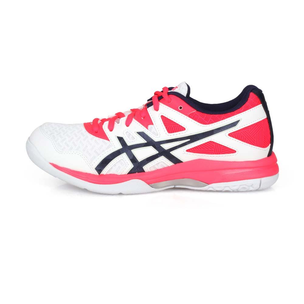 ASICS GEL-TASK 2 女排羽球鞋-排球 羽球 羽毛球 亞瑟士 白亮粉丈青@1072A038-101@