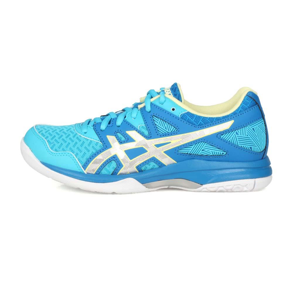 ASICS GEL-TASK 2 女排羽球鞋-排球 羽球 羽毛球 亞瑟士 藍銀淺綠@1072A038-401@