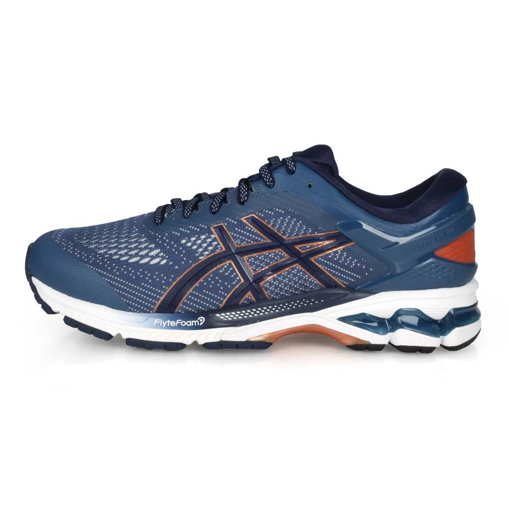 ASICS GEL-KAYANO 26 男慢跑鞋-亞瑟士 亞瑟膠 墨藍棕@1011A541-401@