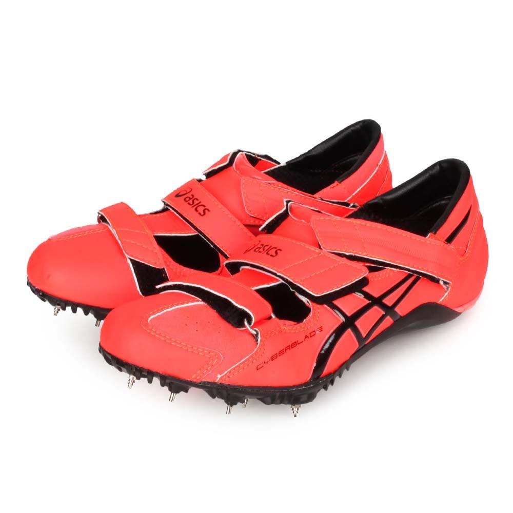 ASICS CYBERBLADE HF 男女-日製田徑釘鞋-短距離 亞瑟士 螢光橘黑@TTP507-701@