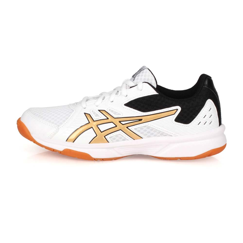 ASICS UPCOURT 3 女排羽球鞋-訓練 亞瑟士 白金黑@1072A012-106@