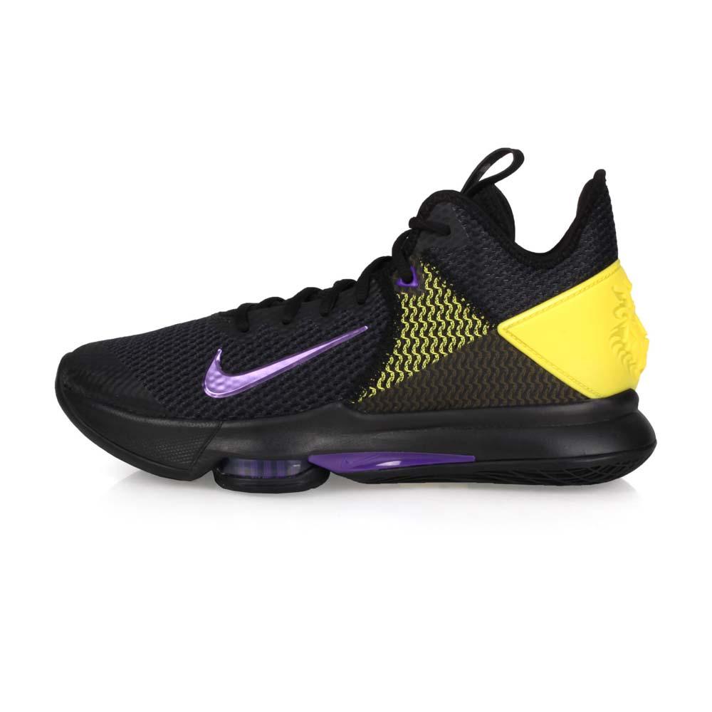 NIKE LEBRON WITNESS IV EP 限量-男籃球鞋-高筒 黑紫黃@CD0188004@