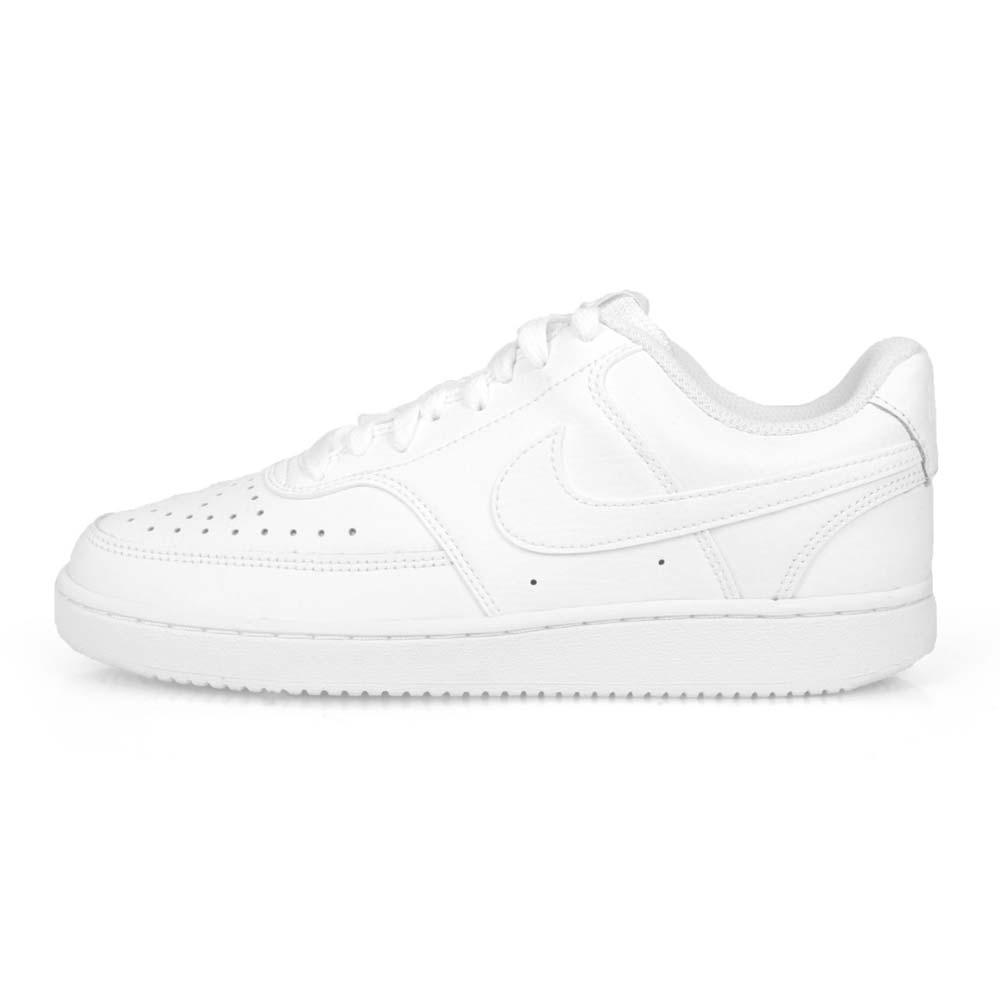 NIKE WMNS  COURT VISION LOW 女休閒運動鞋-皮革 小鞋 白@CD5434100@