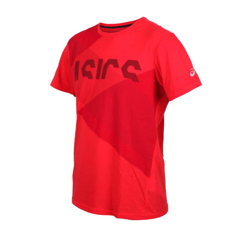ASICS 男TOKYO短袖T恤-慢跑 路跑 短T 亞瑟士 紅@2031B323-600@