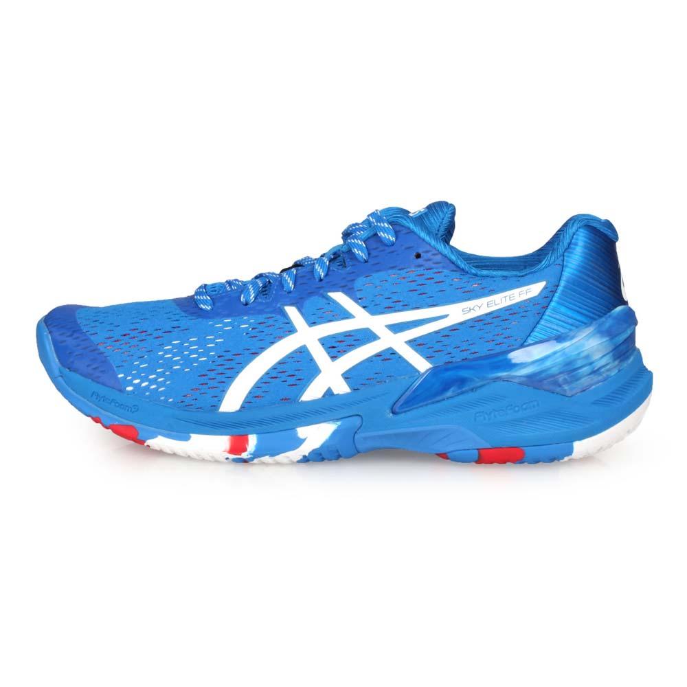 ASICS SKY ELITE FF L.E.女排羽球鞋-奧運 復刻東京系列 藍白紅@1052A032-400@