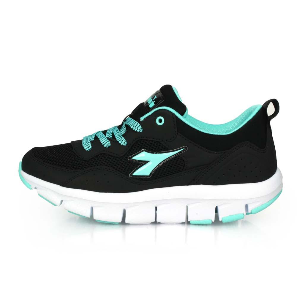 DIADORA 女輕旅悠遊健走鞋-慢跑 走路鞋 運動鞋 黑湖水藍@DA31610@