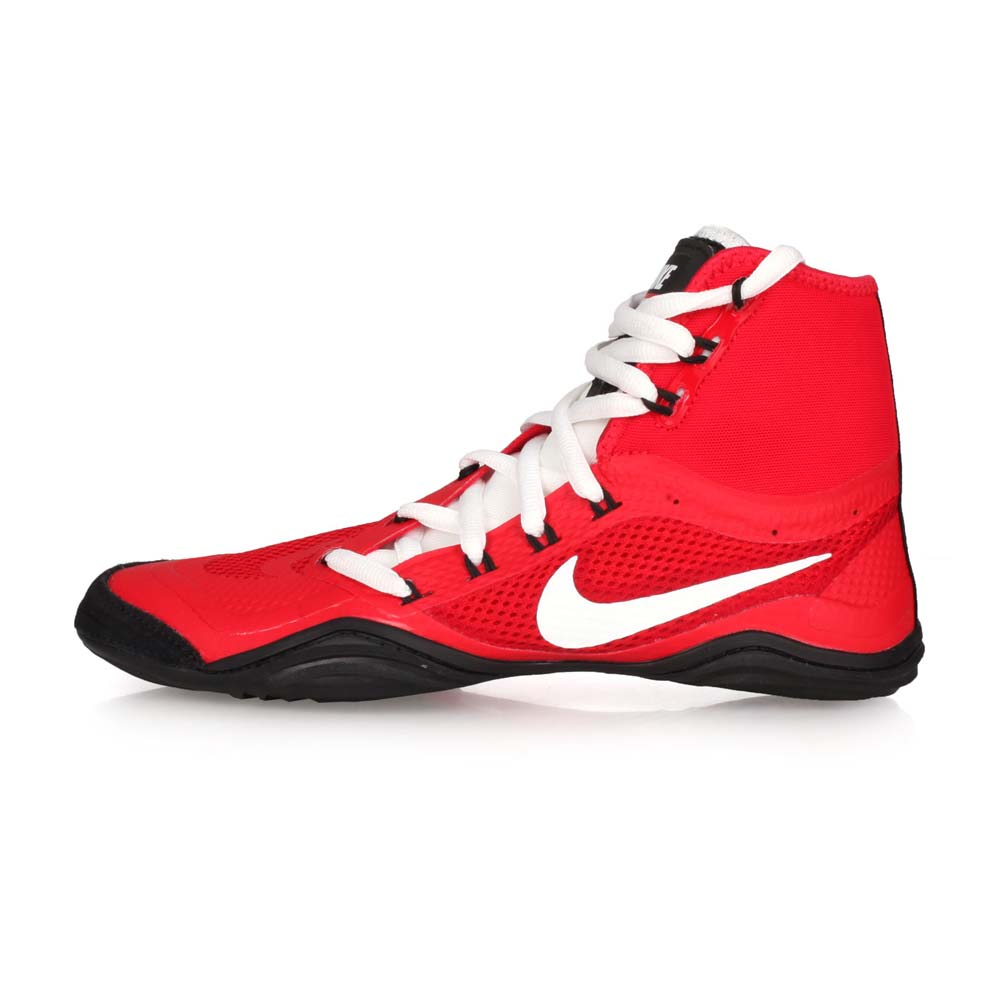 NIKE HYPERSWEEP 限量-男角力鞋-競技 摔角 高筒 紅白黑@717175610@