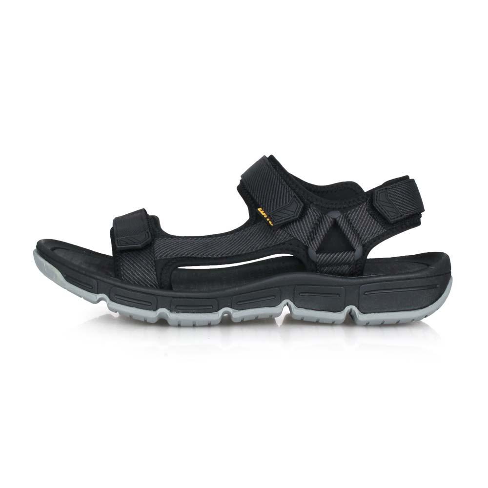LOTTO 男輕履織帶運動涼鞋-海邊 戲水 健走鞋 黑灰@LT0AMS1670@