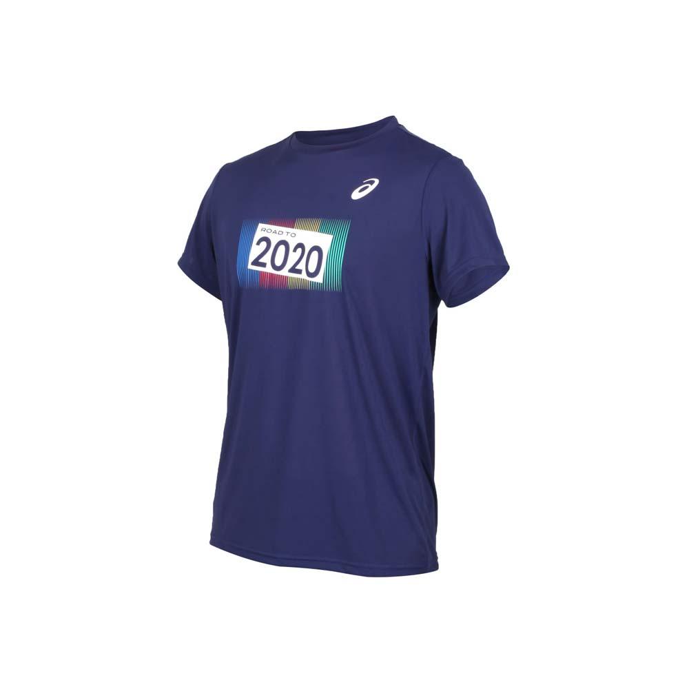 ASICS 男短袖T恤-東京奧運 短袖上衣 運動上衣 亞瑟士 丈青白黃綠@K12002-50@