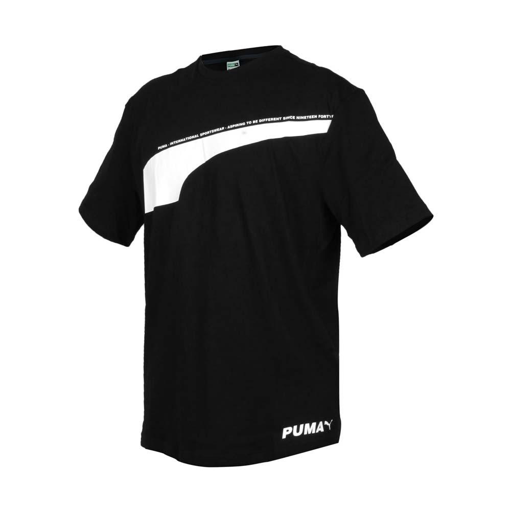 PUMA 男流行系列AVENIR短袖T恤-短袖上衣 純棉 慢跑 黑白@59645701@