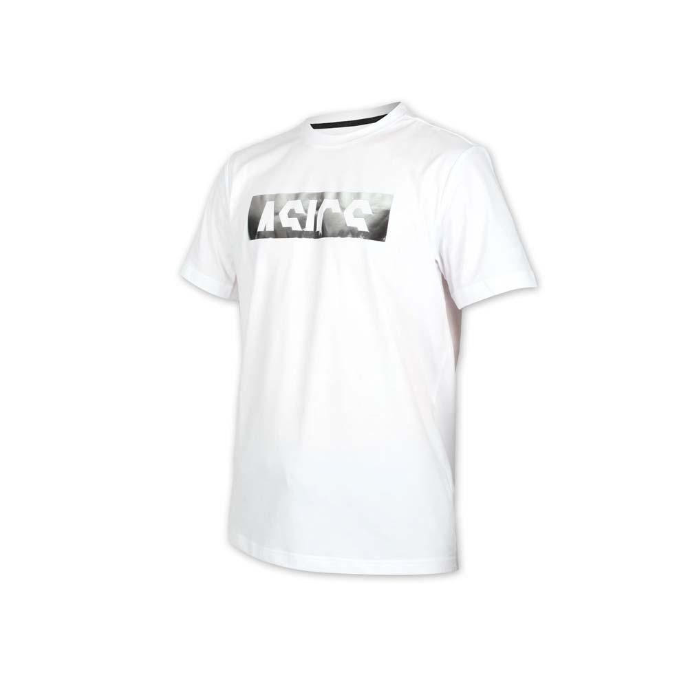 ASICS 男短袖T恤-運動上衣 亞瑟士 白銀@2031B476-101@