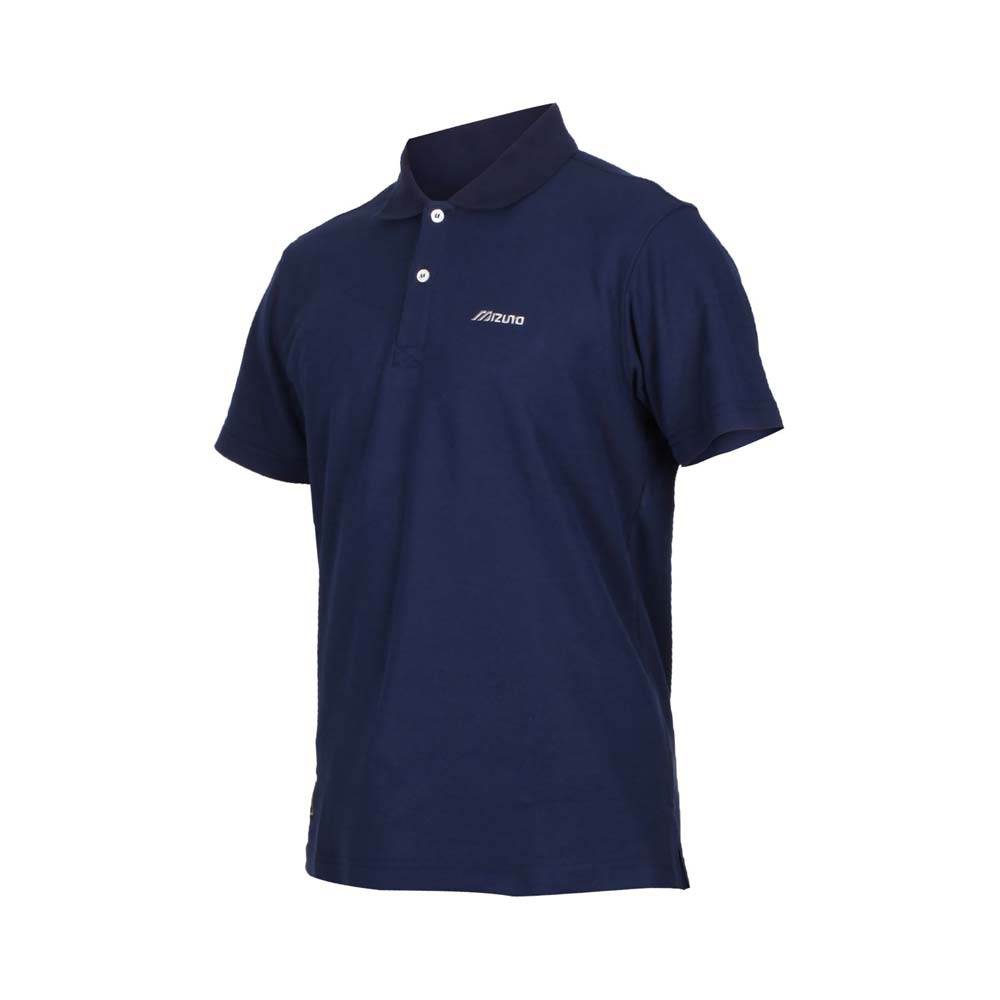 MIZUNO 男1906系列短袖POLO衫-台灣製 上衣 高爾夫 網球 美津濃 丈青灰@D2TA0A1522@