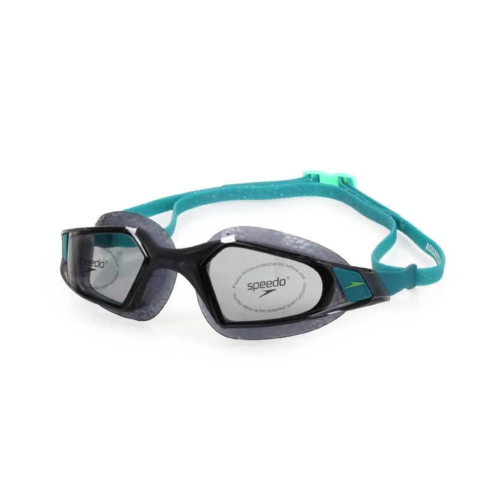 SPEEDO AQUAPULSE PRO 成人運動泳鏡-競技 訓練 游泳 海邊 蛙鏡 黑湖水藍@SD812266D642@