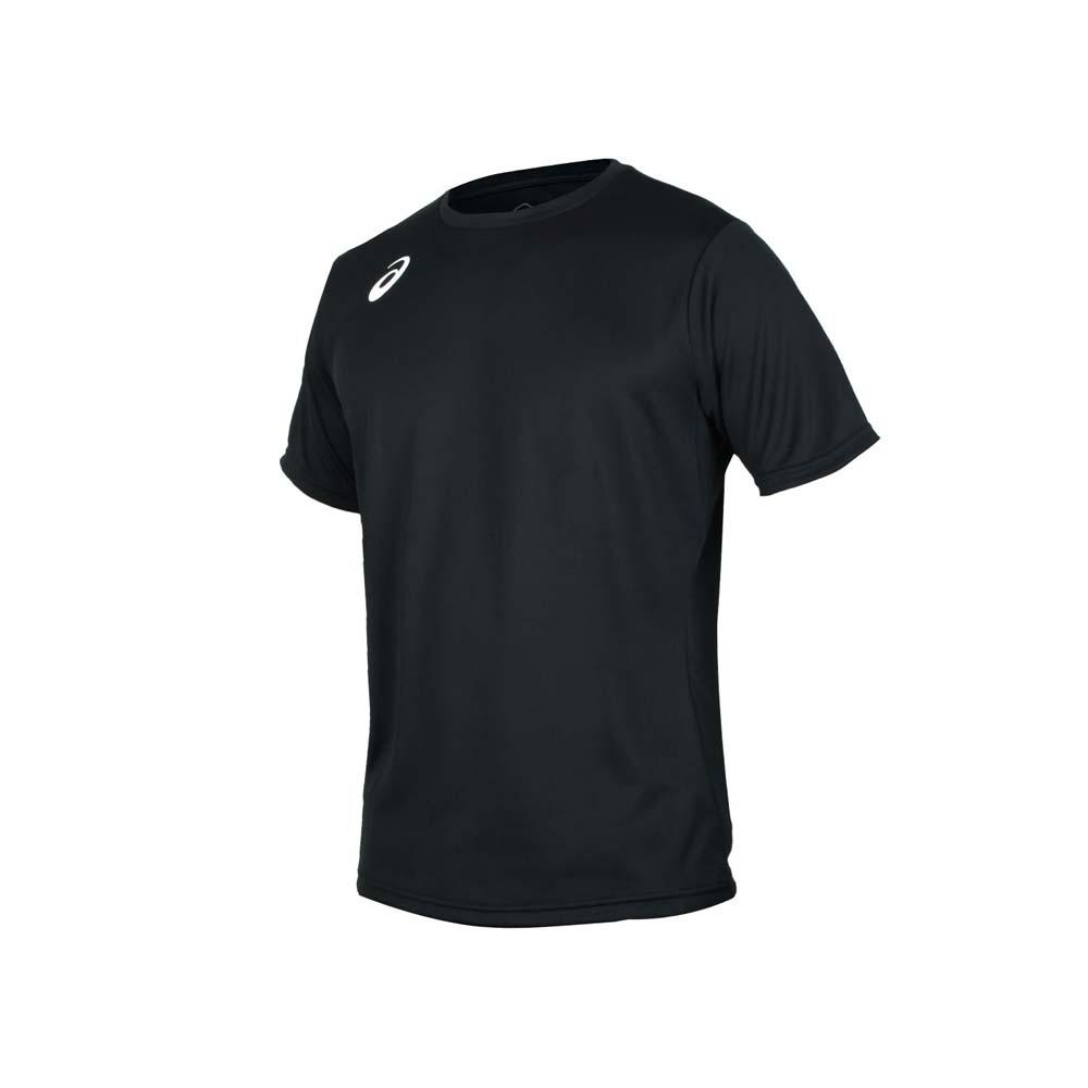 ASICS 男排球短袖T恤-排汗 亞瑟士 黑白@2051A137-001@