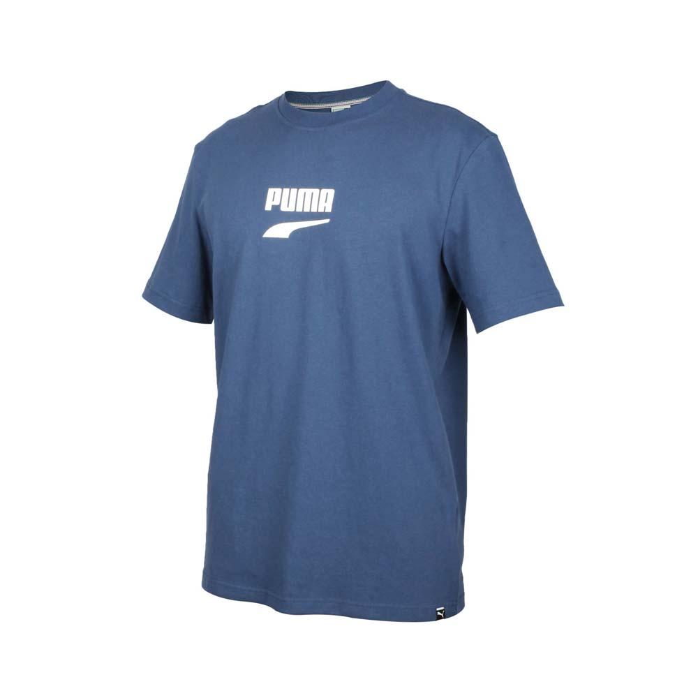 PUMA 男流行系列短袖T恤-純棉 短袖上衣 路跑 慢跑 運動上衣 墨藍白@59636743@