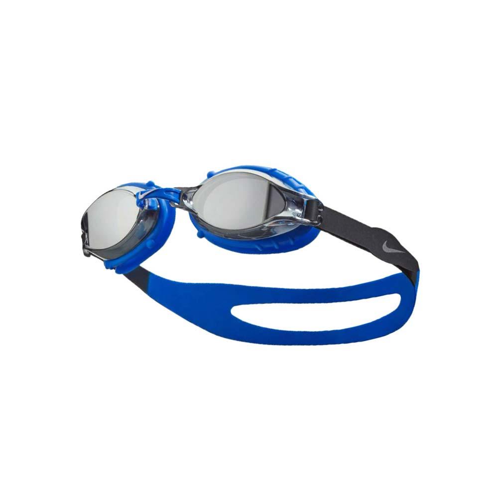 NIKE SWIM 青年泳鏡-游泳 蛙鏡 訓練 戲水 藍黑銀@NESS6157-040@