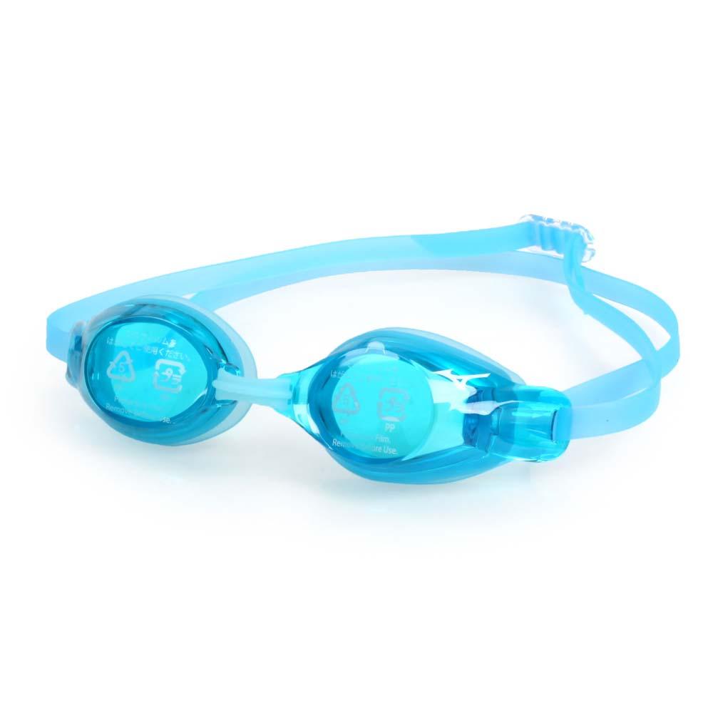 MIZUNO SWIM 日製-少年用競賽泳鏡-抗UV 防霧 蛙鏡 游泳 訓練 美津濃 水藍@85YJ-75100-21@