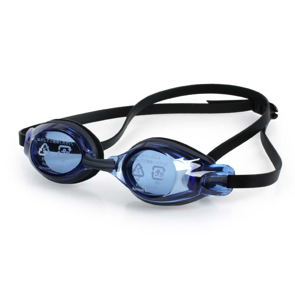 MIZUNO SWIM 日製-少年用競賽泳鏡-抗UV 防霧 蛙鏡 游泳 訓練 美津濃 藍灰@85YJ-75100-27@