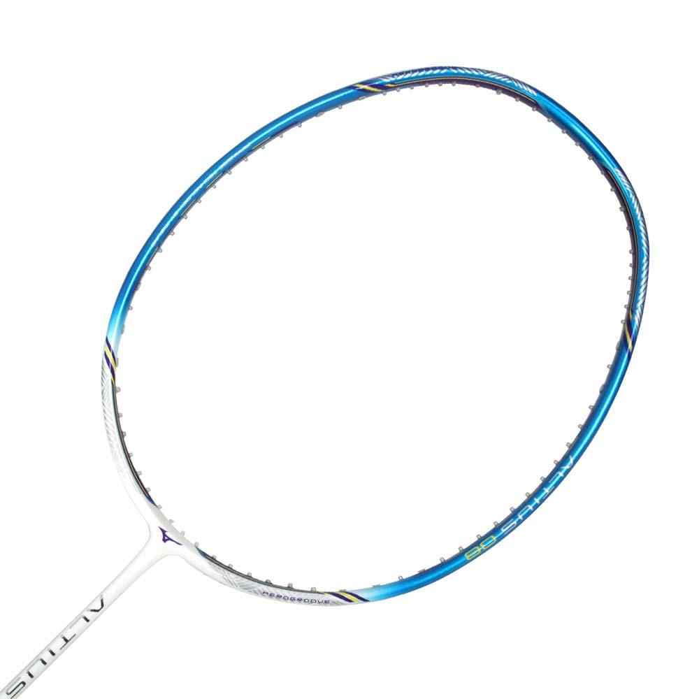 MIZUNO 通用型羽球拍-羽毛球拍 空拍 練習 訓練 美津濃 藍白@73JTB08027-4U6@