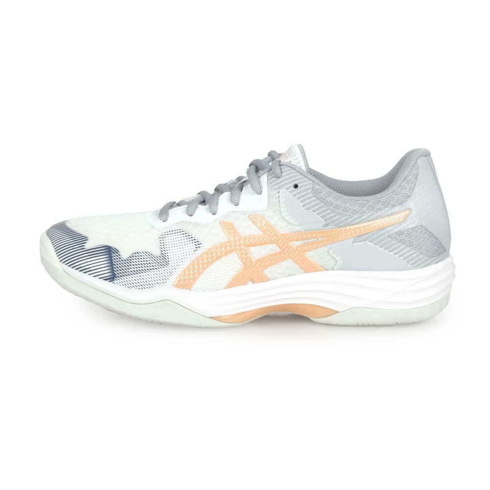ASICS GEL-TACTIC 女排羽球鞋-排球 羽球 訓練 亞瑟士 白灰金@1072A035-102@