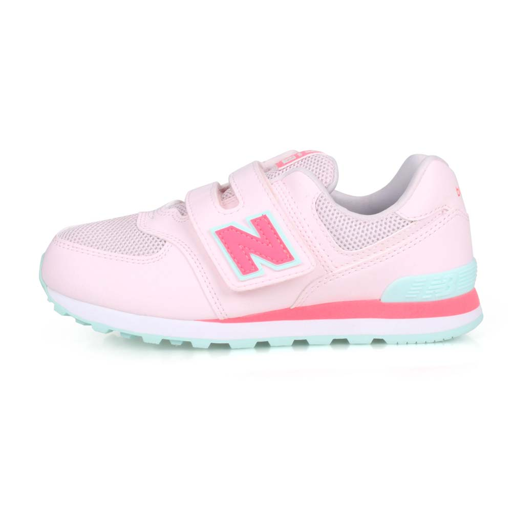 NEWBALANCE NEW BALANCE男女中童復古慢跑鞋-WIDE-574 寬楦 NB N字鞋 淺粉紅粉綠@YV574GCP@