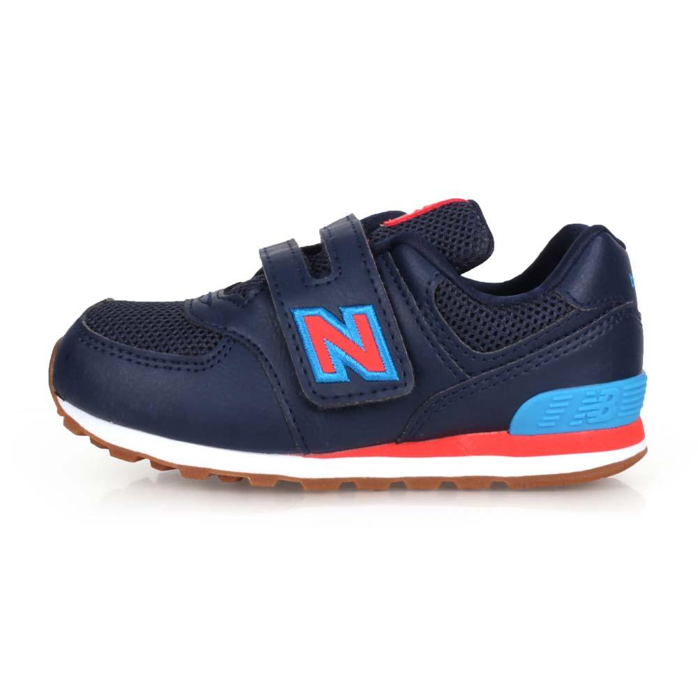 NEWBALANCE NEW BALANCE男女小童復古慢跑鞋-WIDE-574 寬楦 NB N字鞋 丈青藍紅@IV574GCN@