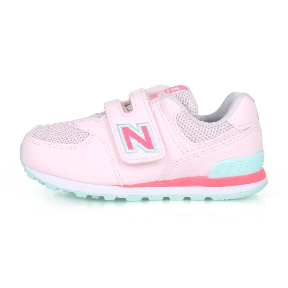 NEWBALANCE NEW BALANCE男女小童復古慢跑鞋-WIDE-574 寬楦 NB N字鞋 淺粉紅粉綠@IV574GCP@
