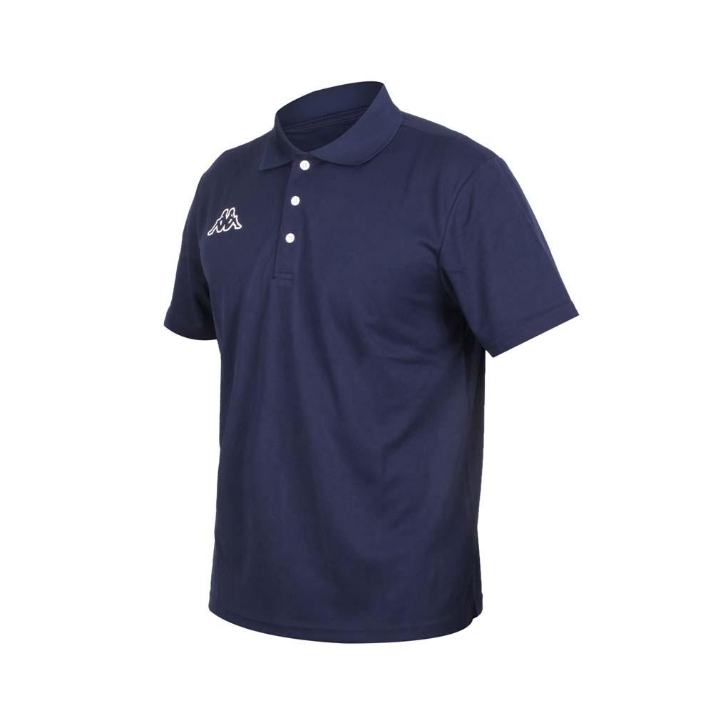 KAPPA 男短袖POLO衫-台灣製 高爾夫 吸濕排汗 網球 羽球 上衣 丈青白@31181ZW-B29@