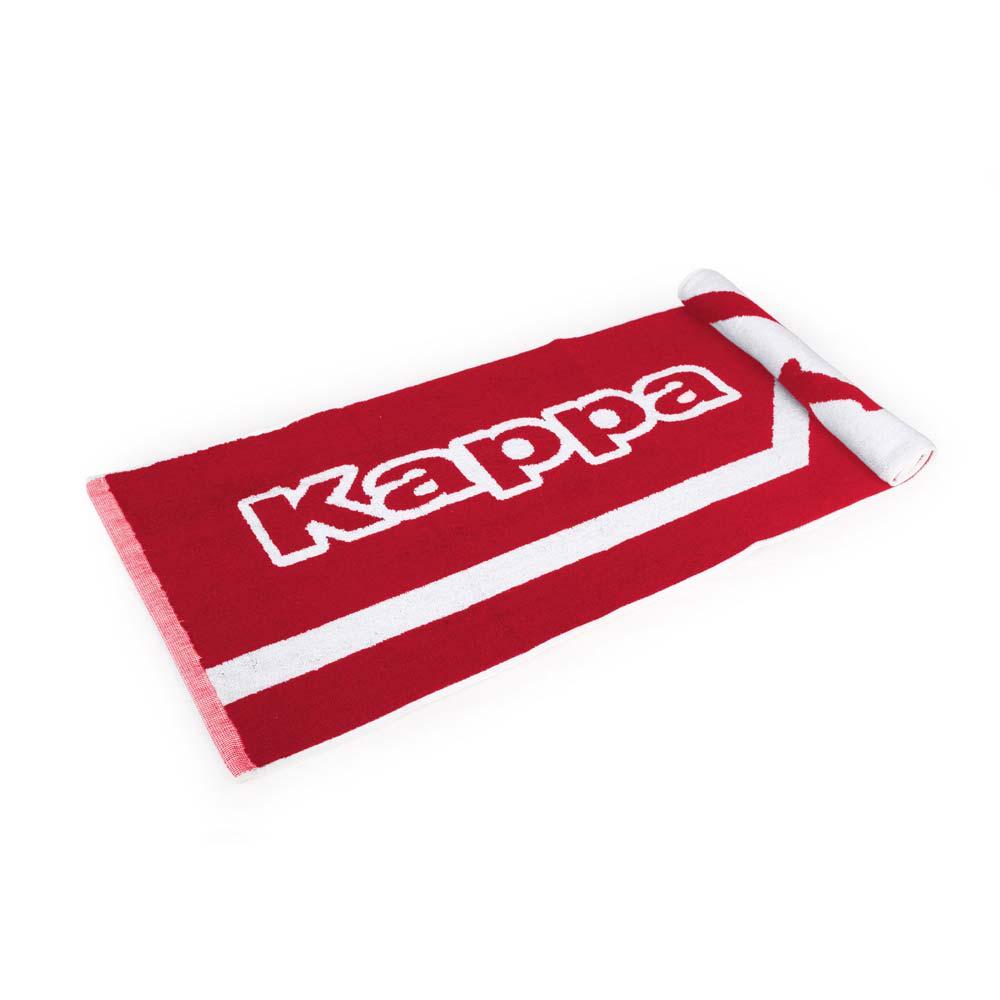 KAPPA 運動毛巾-海邊 游泳 戲水 慢跑 路跑 浴巾 純棉 台灣製 紅白@304TTXD-969@
