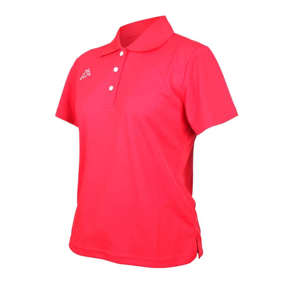 KAPPA 女短袖POLO衫-台灣製 高爾夫 吸濕排汗 上衣 網球 羽球 紅白@311822W-D18@