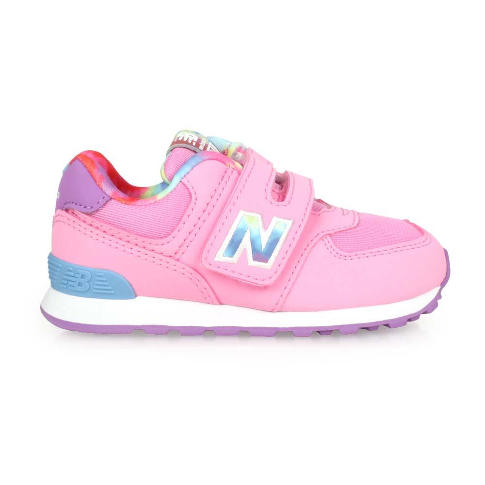 NEWBALANCE 男女小童復古慢跑鞋-WIDE-NB N字鞋 574系列 粉紅藍紫@IV574TDP@