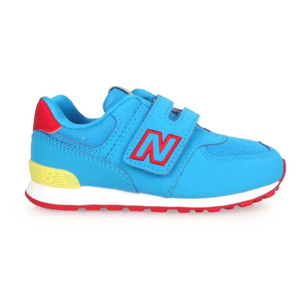 NEWBALANCE 男女小童復古慢跑鞋-WIDE-NB N字鞋 574系列 寶藍紅黃@IV574TDU@