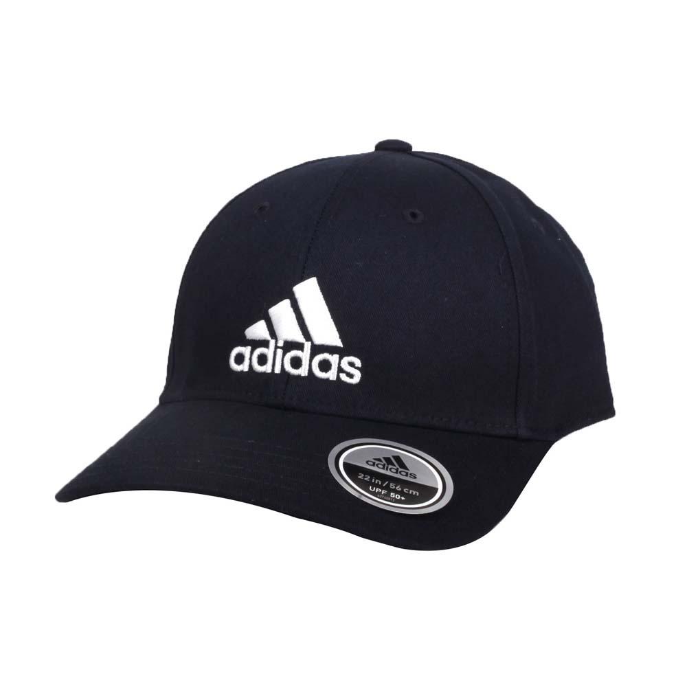 ADIDAS 運動帽-純棉 遮陽 防曬 鴨舌帽 帽子 愛迪達 基本款 棒球帽 丈青白@FQ5270@