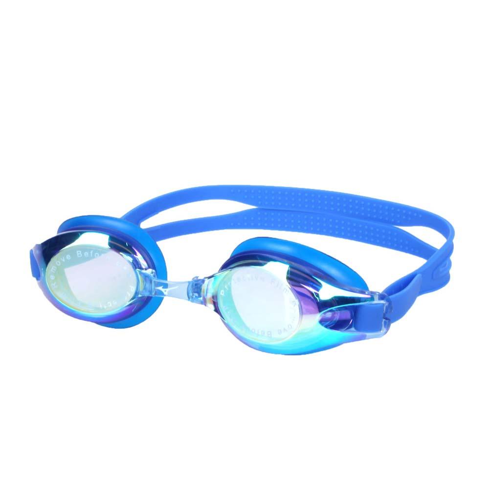 MIZUNO SWIM 泳鏡-蛙鏡 游泳 競賽 防務 抗UV 附可替換鼻橋 美津濃 藍@N3TE702100-13@