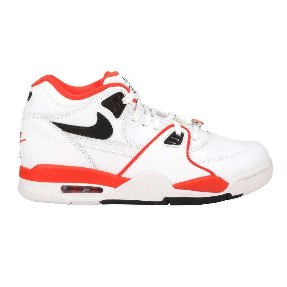 NIKE AIR FLIGHT 89 EMB 男籃球鞋-經典 復古 街頭籃球 氣墊 白橘黑@CZ6097100@