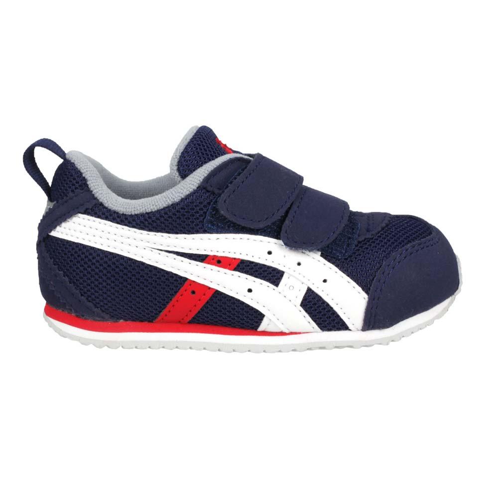 ASICS MEXICO NARROW BABY 4 男女小童運動鞋-魔鬼氈 慢跑 丈青白紅@1144A008-402@