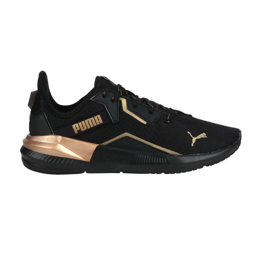 PUMA PLATINUM METALLIC WNS 女休閒運動鞋-慢跑 訓練 黑香檳金@19377301@