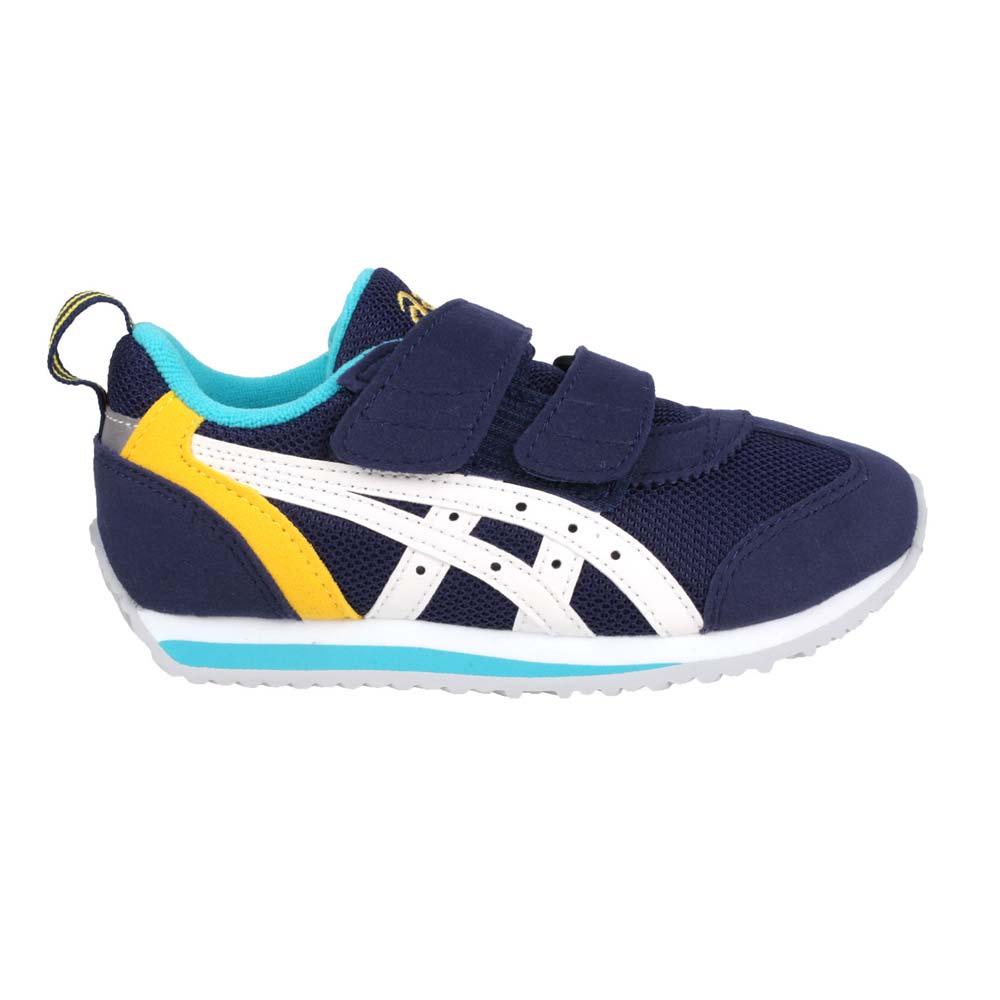 ASICS IDAHO MINI 3 男女小童運動鞋-慢跑 路跑 亞瑟士 丈青黃白@TUM186-5001@