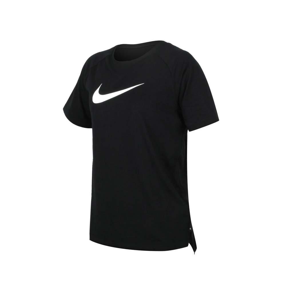 NIKE 女短袖T恤-慢跑 路跑 運動上衣 反光 大勾 黑白@CZ8521-010@